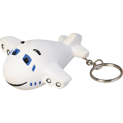 Airplane Key Chain Stress Ball-