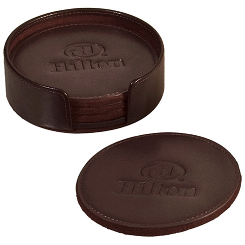 Round Coaster Set-Buy Leather Coaster,PU leather Coaster,Fua