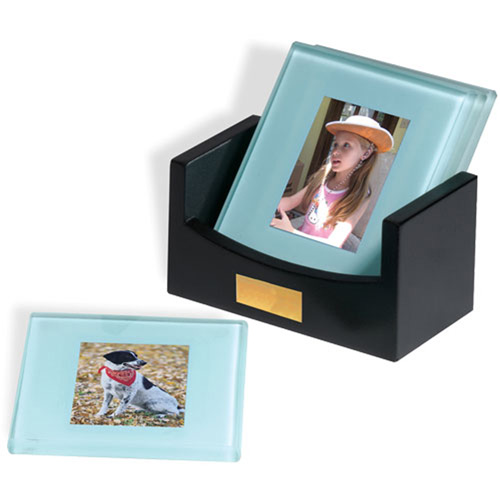 Photo Coasters Set-Buy Leather Coaster Set,Coaster Sets,Squa