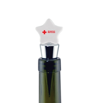 Silver Promotional Wine Stopper - Star