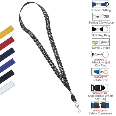"5/8"" Stitched Reflective Material Cotton Lanyard"