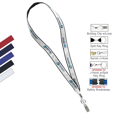 "3/4"" Polyester Web with Sublimated Satin Lanyard"