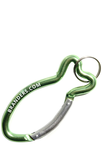Fish-Shaped Metal Carabiner Key
